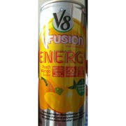 v8 fusion v fusion energy peach mango nutrition grade c plus 50 calories