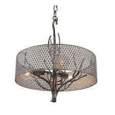 varaluz treefold light steel pendant with recycled steel mesh