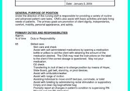 Cna Sample Resume Sample Resume For Certified Nursing Cna Sample