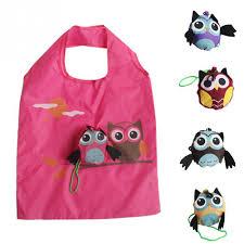 <b>Cute Animal Owl</b> Shape Folding Shopping Bag Fish Ladies Gift ...