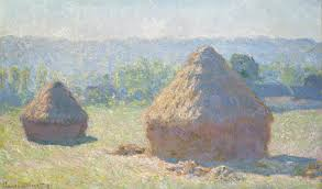 haystacks at the end of summer morning effect claude monet