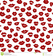 Wallpaper Lips Design Vector Beauty Seamless Pattern Of Red Lips Lip Make Up Sw