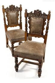 Oak Bedroom Chair Pair Of Green Man Carved Oak Hall Bedroom Chairs Antiques Atlas