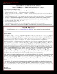 System Analyst Cover Letter Entry Level Business Analyst Cover Letter Templates At
