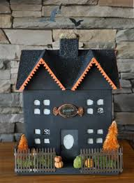 personally decorated haunted house using a pre-fab cardboard house
