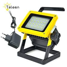 battery operated led floodlight outdoor lighting waterproof camping spotlights lanterns with timer