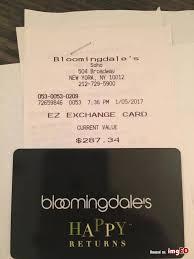 bloomingdales credit 287 gift card