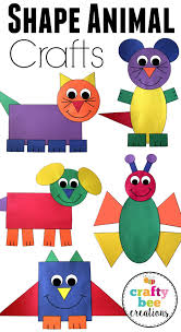 Shape Animal Crafts Bundle Help Teaching Construction Paper And