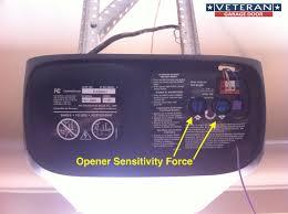 a simple travel limit or force limit adjustment opener sensetivity force
