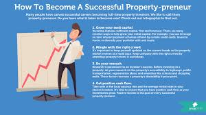 do you have what it takes to be a property preneur propbites an analytical mindset not to mention some start up capital here s a bite sized but comprehensive look into the world of a successful property prenuer