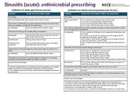 Antibiotic Selection Chart Antimicrobial Prescribing Guidelines Nice Guidance Our