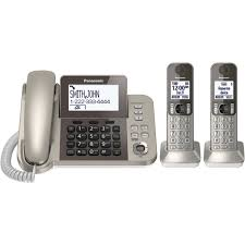 panasonic desk phone with 2 cordless handsets