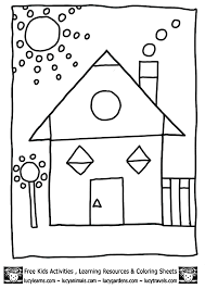 Small Picture 2d Shapes Colouring In Sheet Shapes to color coloring part