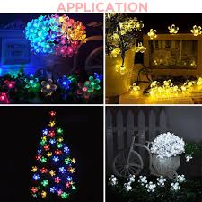 Rgb Outdoor Christmas Lights Garland Solar Led Lights Outdoor Waterproof Fairy Lights