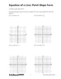 write an equation in point slope intercept form calculator writing equations fill printable graphing worksheet