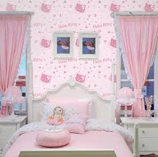 kids bedroom for girls hello kitty. Pink Cartoon Hellokitty Cat Bedroom Wallpaper Child Real Girl Non-woven Kids For Girls Hello Kitty