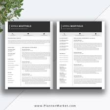 Professional Resume Template 5 Page Cv Template Creative Resume