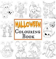 Color this scary chucky coloring page for halloween. Halloween Colouring Pages For Kids Messy Little Monster
