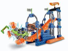 amazoncom fisherprice trio hot wheels stunt ramp builder toys