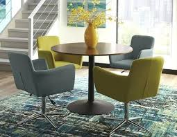 5 round dining table set w metal base 56 inch
