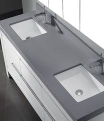 bathroom vanity with gray top