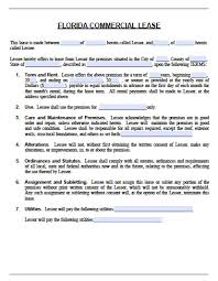 Commercial Lease Free Florida Commercial Lease Agreement PDF Word Doc 3