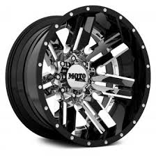 moto metal wheels. moto metal® - mo202 chrome center with black and milled lip moto metal wheels u