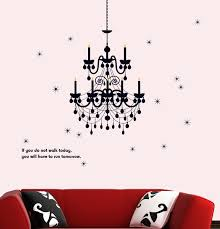 stickieart black chandelier wall decal large 60 x 90 cm sta 192
