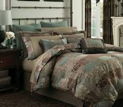 brown turquoise comforter sets california king bedding view cal on bed 17