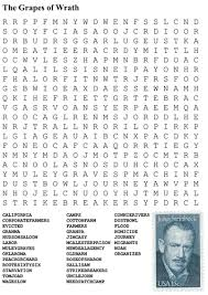 the grapes of wrath word search by sfy teaching resources tes