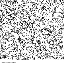 New free coloring pages stay creative at home with our latest. Free Flower Coloring Pages For Adults Coloring Pages Printable Com