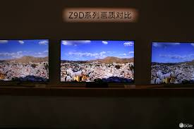 sony z9d. samsung left, sony bravia zd9 on center and lg oled the right: z9d
