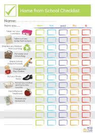 School Checklist Home From School Checklist Printable Bub Hub