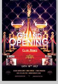 bar grand opening flyer 30 fabulous grand opening flyer templates ai psd docs pages