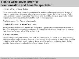 Employee Benefits Specialist Cover Letter