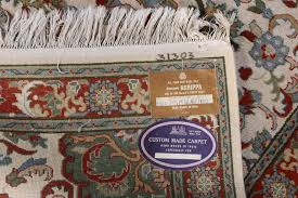 hand knotted indian agrippa wool area rug ebth hand knotted indian wool rugs