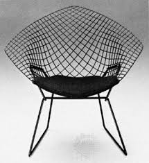 famous modern furniture designers. The Bertoia Chair, Designed By Italian Sculptor, Artist, And Modern Furniture Designer Harry Bertoia. Famous Designers A