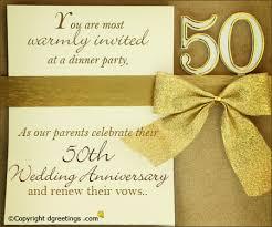 50th anniversary invitation wording 50th wedding anniversary invitation wording