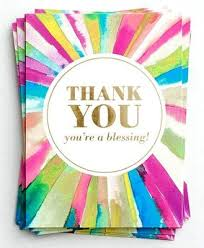 Blank Thank You Notes Rays Of Thanks Blank Thank You Note Cards Box Of 10