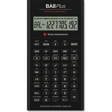 Financial Calculator Texas Instruments Ba Ii Plus Pro Financial Calculator Calculator Finance Ti Baii Plus Pro