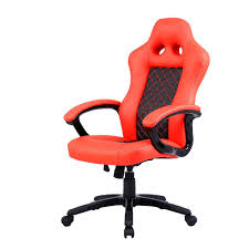 com costway bucket seat office desk chair high back race car style gaming chair orange kitchen dining