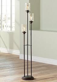 edison table lamp vintage home lighting. Libby Oiled Bronze 3-Light Seeded Glass Floor Lamp Edison Table Vintage Home Lighting M