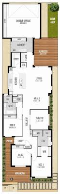 l shaped house plans for narrow lots new house plans for long narrow lots narrow lot