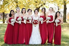 Image result for bright red bridesmaids