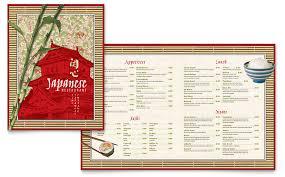 Word Restaurant Menu Templates Japanese Restaurant Menu Template Word Publisher