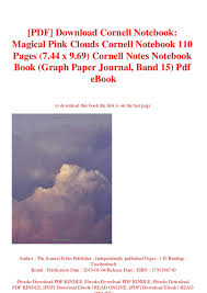 Pdf Download Cornell Notebook Magical Pink Clouds Cornell