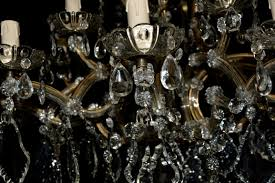 Kronleuchter Antik Lüster Silber Kristall Deckenlüster
