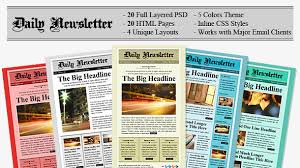Free Html Newspaper Template Daily Newsletter Html Email Template
