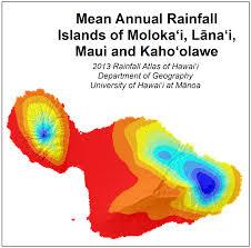 Hawaii Rainfall Chart Weather Maui Average Rainfall Map Maui Guidebook