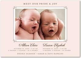 twin birth announcements photo cards featured twins birth announcement cards mother of twins